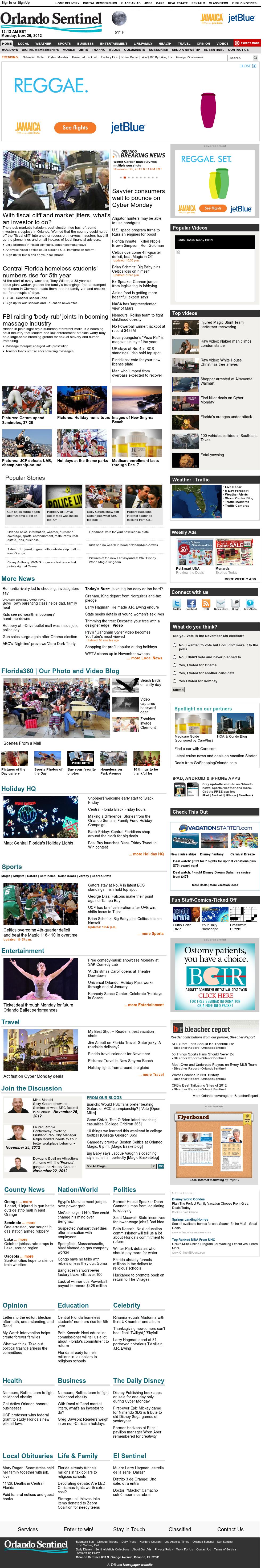 Orlando Sentinel at Monday Nov. 26, 2012, 5:21 a.m. UTC