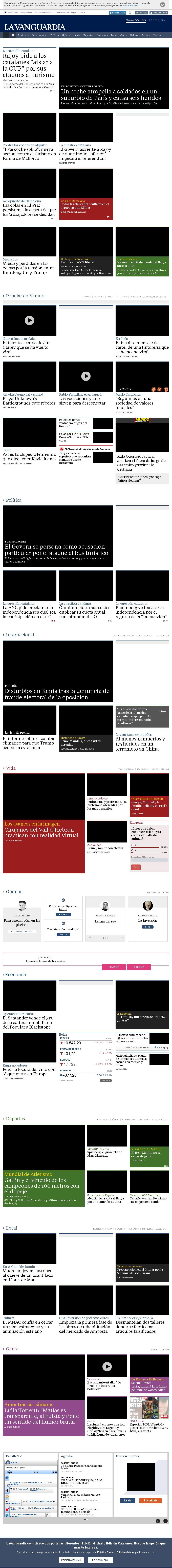 La Vanguardia at Wednesday Aug. 9, 2017, 12:22 p.m. UTC