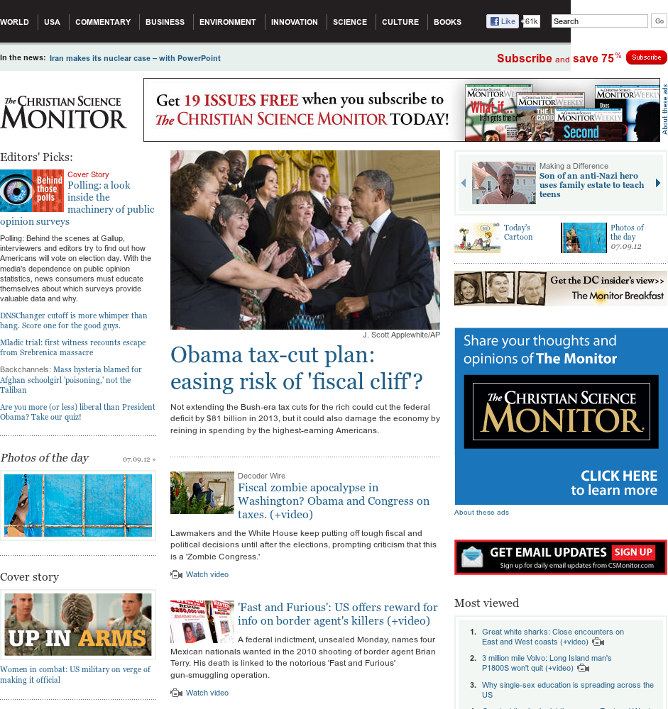The Christian Science Monitor