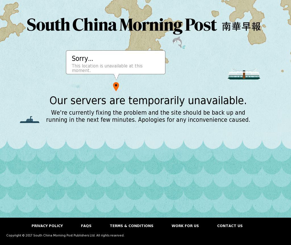 South China Morning Post at Monday Oct. 9, 2017, 10:19 a.m. UTC